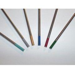 Wolframelektroden blau, grau, grün, gold, 1 Elektrode, 1,0-4,0 MM x 175mm