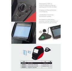 Sacit 950 Turbo Automatik Solar Schweißhelm Schweißmaske