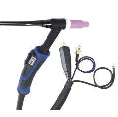 GYS - ABTIG WIG-Brenner GRIP SR17 DB - luftgekühlt - 4 m Stecker 10 / 25 mm² - Steuerkontakt DIN 3-pol. - mit Zubehör-Set