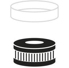 GYS Partikelfilter für Schweißhelm Gebläse-Atemschutzsystem NAVITEK - 045866