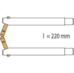 GYS Elektrodenarm PX3 x 2 - 220mm - Alu abgeschrägt Arm für PORTASPOT - 047921