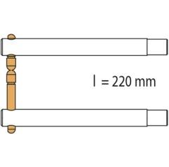 GYS Elektrodenarm PX2 x 2 - 220mm - Alu asymetrisch Arm für PORTASPOT - 047938