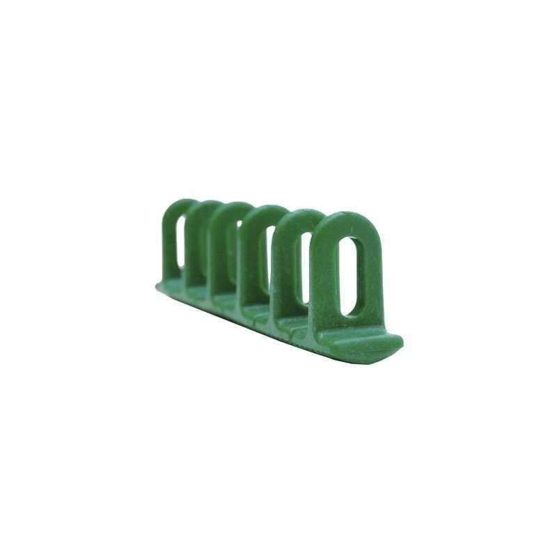 GYS - 3 Ösen-Klebepads 38 x 22 x 156 mm - grün - 048072