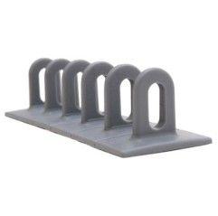 3 Ösen-Klebepads 37 x 50 x 156 mm - grau - 048096