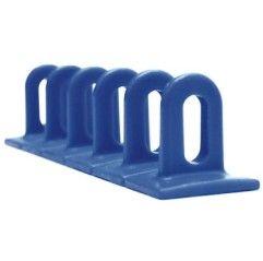 3 Ösen-Klebepads 37 x 36 x 156 mm - blau - 048102