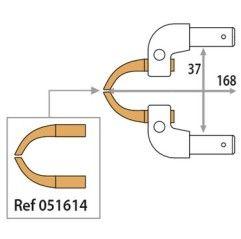 GYS Elektrodenarm X11 x 2 3bar 150daN 168mm Alu für schwer zugängliche Stellen - 051607