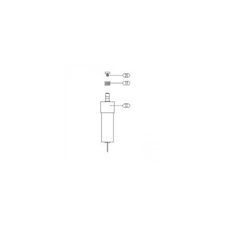 Getriebemotor 24 V DC inkl. Pos. 19 (Draht-Ø 1,2 mm) und Pos. 20 - Binzel