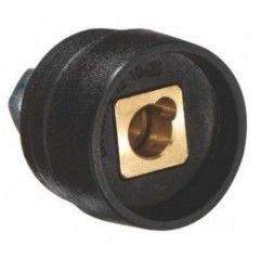 Schweißgeräte Einbaubuchse für Massestecker, Dorn 9mm, 10-16mm2