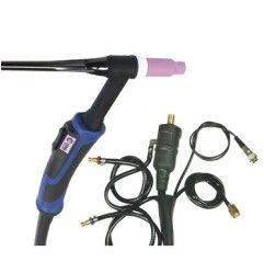 GYS - ABTIG WIG-Brenner GRIP SR20 DB - flüssiggekühlt - 8 m Stecker 35 / 50 mm² - Steuerkontakt DIN 3-pol. - mit Zubehör-Set