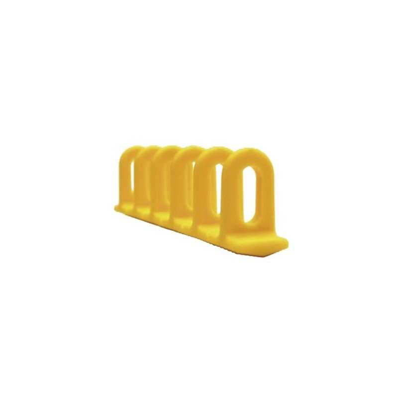 3 Ösen-Klebepads 6 x 22 x 156 mm - gelb - 048089