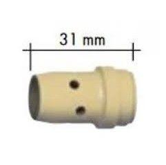 Abicor Binzel Gasverteiler Kunststoff für ABIMIG W 605 / 605 C / 605 D Schweißbrenner, Länge 31 mm, (1 Stück) - 766.0546.10