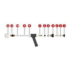 Spannhülse ø1,0 mm Ms ø3x14,3 mm für Plasmabrenner PWT 500 - Fronius (1 Stück) 42,0001,3721