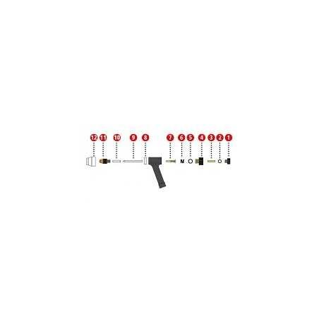 Spannhülse ø1,0 mm Ms ø3x14,3 mm für Plasmabrenner PWT 500 - Fronius (1 Stück) 42,0001,3721 - 42,0001,3721 - 9007946833748 - 20,