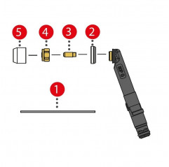 Spannhülse kurz 3,2mm/ø4,5x11,5 für TTB 80P/180P (Abb. Pos. 3) (1Stück) 42,0001,4618
