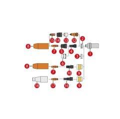 Düsenstock M8x1,5 / SW9x32,5, MTG 320i / MTB 320i G ML / MTB 320i (1 Stück) 42,0001,4622,5