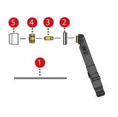Spannhülse kurz 2.0mm/ø4,5x11,5 für TTB 80P/180P (Abb. Pos. 3)