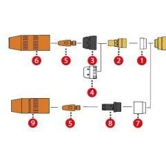 Fronius Isolierhülse ø17,7 / 13,8x16,8 für MTG 250i / MTB 250i G ML / MTW 250i / MTW 250i W ML (1 Stück)
