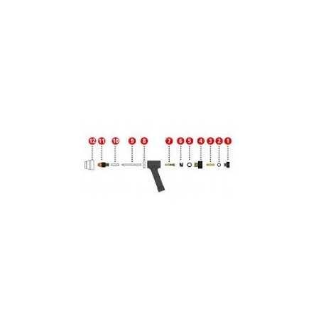 Dichtung 4x1mm FKM Dichtung für Plasmabrenner PWT 500 - Fronius (1 Stück) - 42,0300,2796