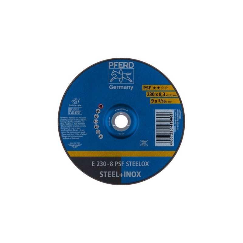 SCHRUPPSCHEIBE PFERD E 230-8 PSF STEELOX (1 Stück) - 62023831 - 4007220470602 - 8,43€ -
