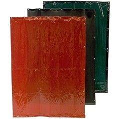 CEPRO SCHWEISSVORHÄNGE - 220 cm breit - (rot,grün,orange,bronze) Ton 6 + 9