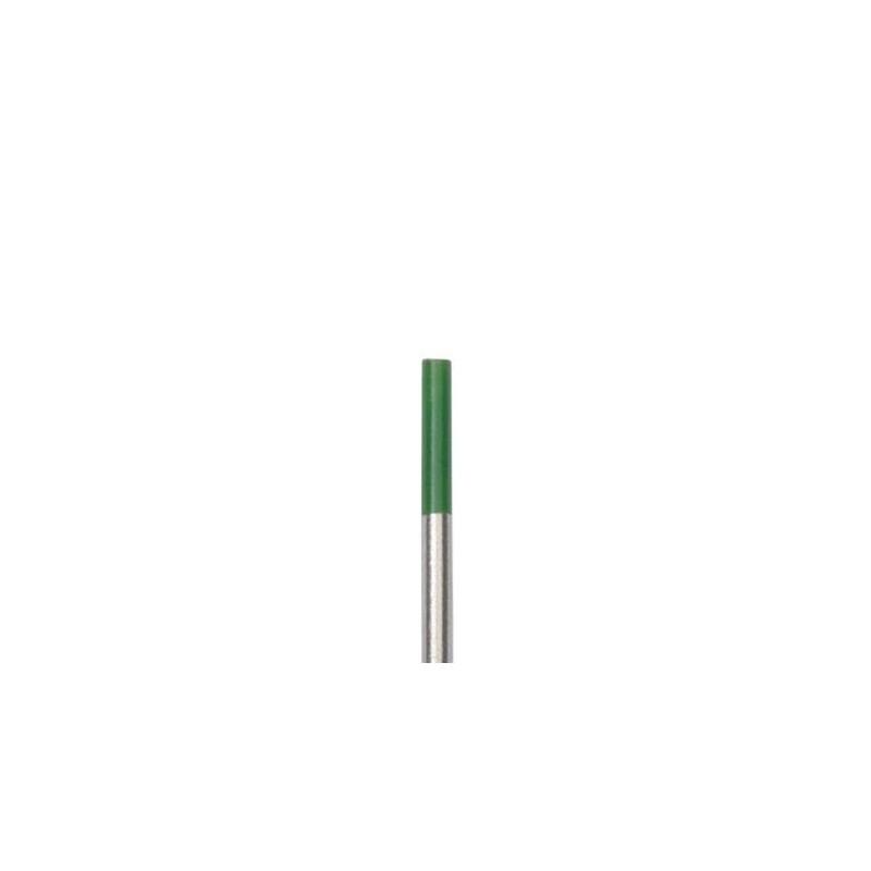 Wolframelektrode WP, grün, 1 Elektrode, 1,0-4,0x175mm