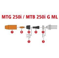 Fronius Düsenstock M6 SW 9x31 für MTG 250i / MTB 250i G ML - 1 Stück od. 5erSet - 42,0001,3988,5
