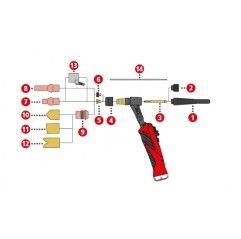 Fronius Gasdüse keramisch ø8,0mm / ø20,8x63 für TTB 220A / TTB 400 / TTG 2200A / TTW 4000A - 42,0300,1121 - 42,0300,1121 - 90079