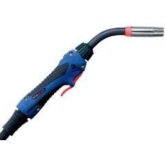 MIG/MAG-Schweißbrenner Schlauchpaket ABIMIG® A T LW 255 LW,45°, Stromdüse 1,0mm, länge 3-5 m, Euroanschluss, Gasgekühlt