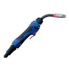 MIG/MAG-Schweißbrenner Schlauchpaket ABIMIG® A T LW 155 LW,45°, Stromdüse 0,8mm, länge 3-5 m, Euroanschluss, Gasgekühlt