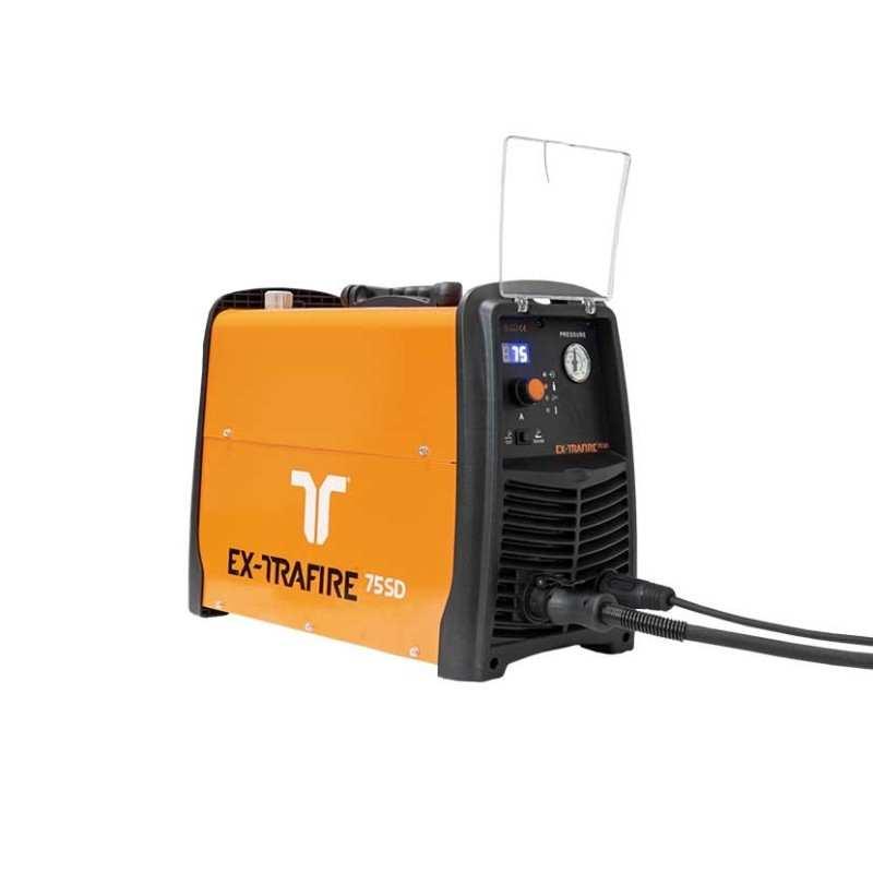 Plasmaschneidgerät EX-Trafiere 75 SD (30-75A) 400 V 3-PH, CE Maschinensystem/FHT-EX105RTXM-NR Brenner 15m/M Starter Kit - EX‐4‐0
