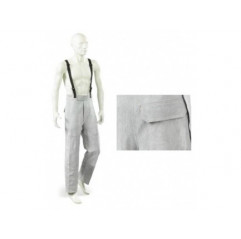 Schweisserhose aus Rindsleder mit Trägern und Gesäßtasche - JAK-150, Gr. L, XL, XXL