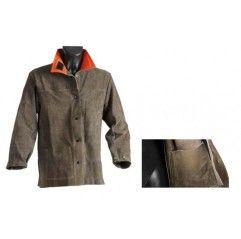 Manschette, zwei funken- und feuerfesten Taschen sowie zwei Druckknöpfen und Klettverschluss., Gr. L, XL, XXL und XXXL