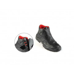 Sicherheitsschuhe Classic 2, mit Lederklappe und Klettverschluss zum Schutz vor Spritzern und Schweißspritzern.