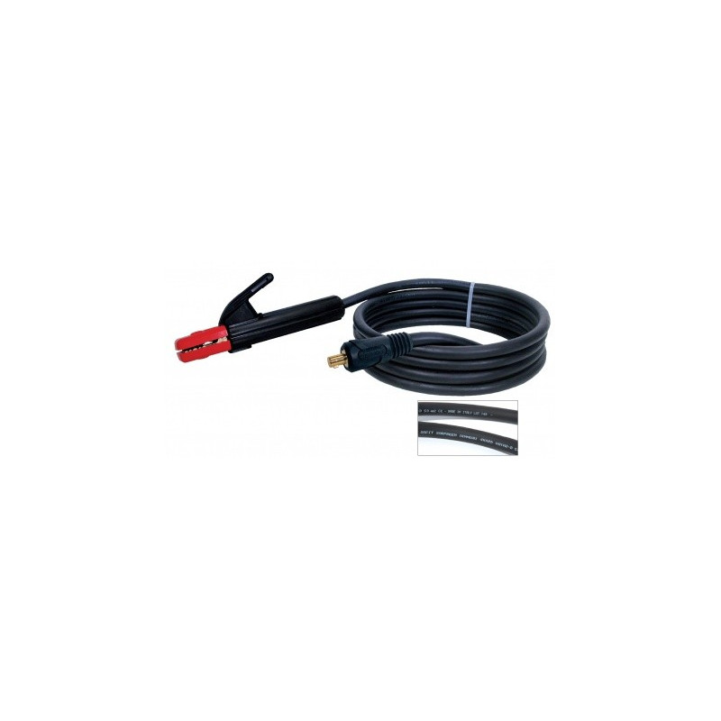 Elektrodenhandkabel Schweißkabel 200A, 5m, 25mm², Dorn 9mm