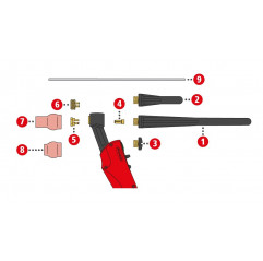 Brennerkappe lang L153 A TTG1200A,TTG1600A,TTW2500A,TTW3000A,AL15 - 44,0350,0336 - 9007946477539 - 9,16€ -
