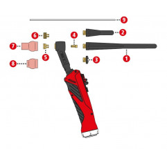 Spannmutter 2,4mm/SW10x10,7 Fronius TTG1200A / TTG1600A / TTW2500A / TTW3000A - 42,0001,0694 - 9007946242595 - 2,67€ -
