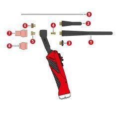 Gaslinse 2,4mm/ø12x11 Fronius TTG1200A / TTG1600A / TTW2500A / TTW3000A - 44,0350,1460 - 9007946485930 - 8,35€
