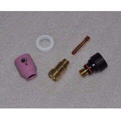 WIG Umbau Set mit Gaslinse Tip 17 / 18 / 26 auf Tip 9 / 20 kurz,1,0mm, Gasdüse nach Wahl