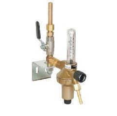 GCE Entnahmestellenstation einfach Argon/Co2, mit Messrohr (Flowmeter) 30l/min.