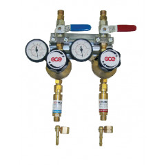 GCE Entnahmestellenstation 2-Fach Sauerstoff, 0 -10 bar / Acetylen 0 -1,5 bar - UNISET
