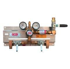 GCE Entspannungsstation Druckregelstation MM70-2 - Sauerstoff Inertgas Stickstoff Argon Helium - 300 bar bis 20 bar regelbar