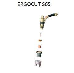 Trafimet Ergocut S65 - 5 Elektroden, 1 Swirl Ring, 5 Schneiddüsen 1,0mm, 1 Aussenschutzdüse, 1 Abstandsstück