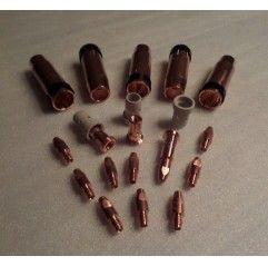 MB/ABIMIG W555/401/501 Set 1,2mm, 5 Gasdüsen, 10 Stromdüsen, 3 Düsenstöcke, 3 Gasverteiler