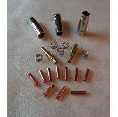 MB 15 Set 0,6mm, 3 Gasdüsen, 10 Stromdüsen, 2 Gasdüsenträger, 5 Haltefedern