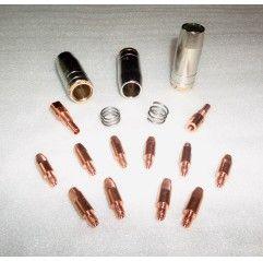 MB 25 Set 0,8mm, 3 Gasdüsen, 10 Stromdüsen, 2 Gasdüsenträger, 2 Haltefedern