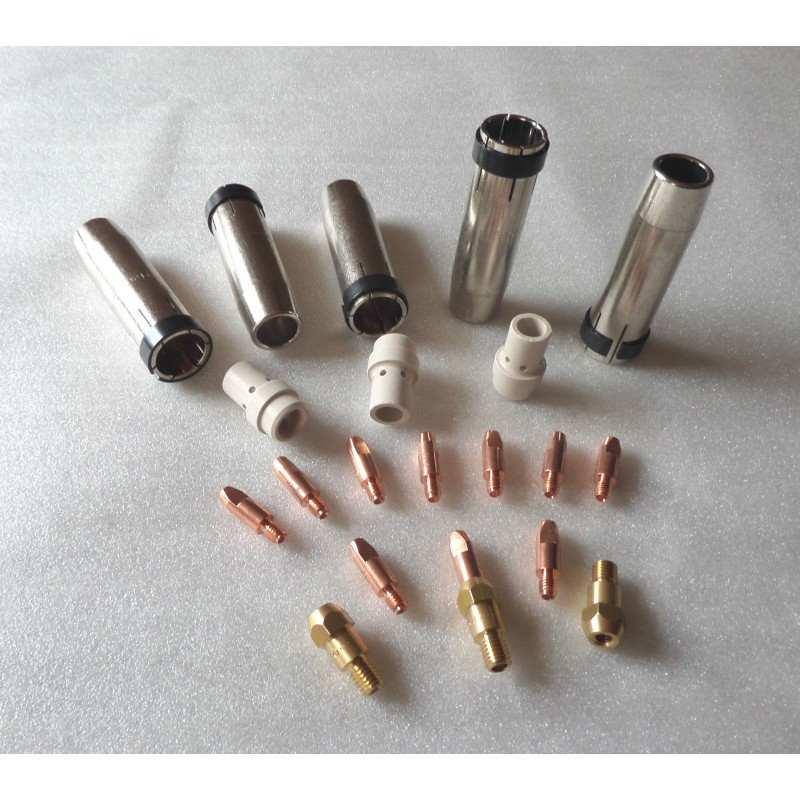 MB 36 Set 0,8mm, 5 Gasdüsen, 10 Stromdüsen, 3 Düsenstöcke, 3 Gasverteiler - 145.0078-51 - - 41,29€ -