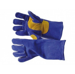 MIG MIG Schweißhandschuh Trafimet Gr. 10 Blaue Rindsleder 5 Finger-Schweisshandschuh mit integrierten Innenfutter - F20150.10 -