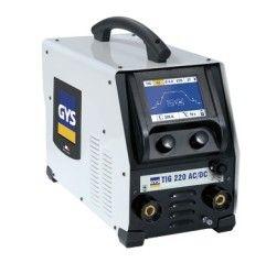 GYS WIG/TIG 220 AC/DC HF FV WIG-Schweißinverter mit WIG-Brenner GRIP SR26 DB 8 m + Masseklemme mit Kabel 4 m - 25 mm²