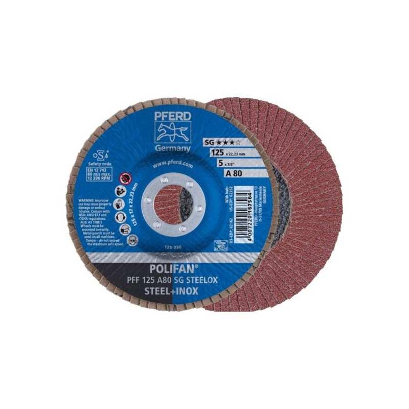 POLIFAN PFERD PFF 125 A80 SG STEELOX - 67608125 - 4007220167564 - 4,91€ -