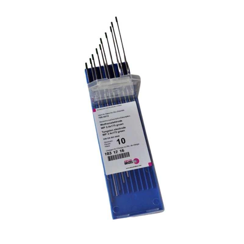 Wolframelektrode WP, grün, 10 Stück, 1,0-4,0x175mm - Abicor Binzel - 700.0003-10 -  - 9,03€ -